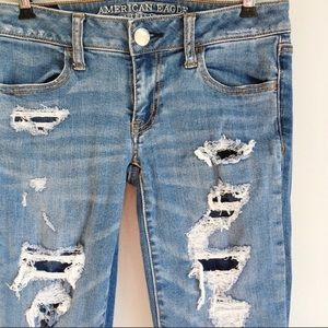 American Eagle Outfitters Jeans - American Eagle Super Low Stretch Distress Jegging